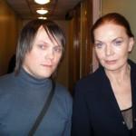 С Людмилой Чурсиной. 2009 год