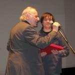 Из рук Наума Клеймана получаю Премию имени Алехандера Гиммелфарба. 2011 год