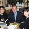 С коллегами Сергеем Николаевым и Мариной Кравченко. 2009 год